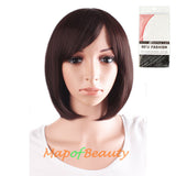 Daily Use Side Bangs Short Wigs High-temperature Fiber Ordinary Wigs