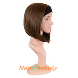 Headband Wig Short Bob Kinky Straight Wigs High Temperature Synthetic Fiber Hair Party