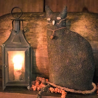 Primitive Halloween Black Feline