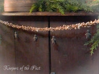 Gingerbread Popcorn Garland