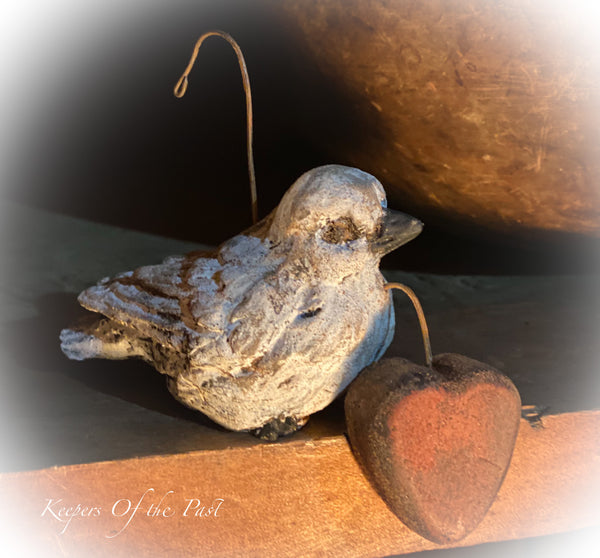 Primitive Love Dove Ornie