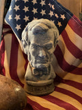 Primitive Wax Abe Lincoln Statue
