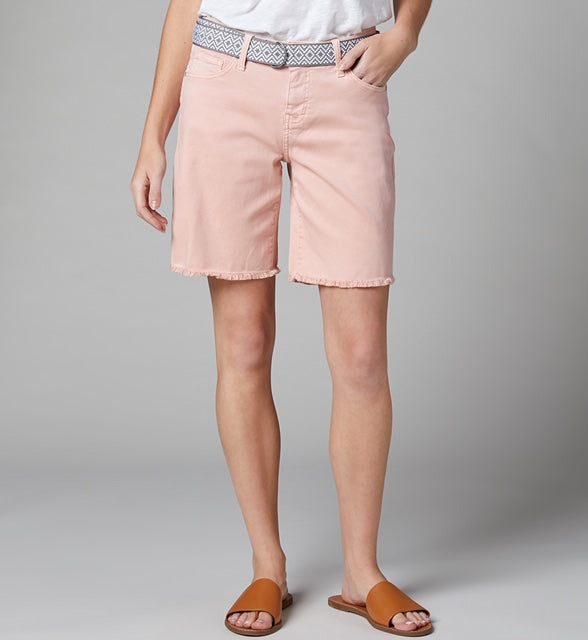 Demi Boyfriend Short Cantaloupe With Belt