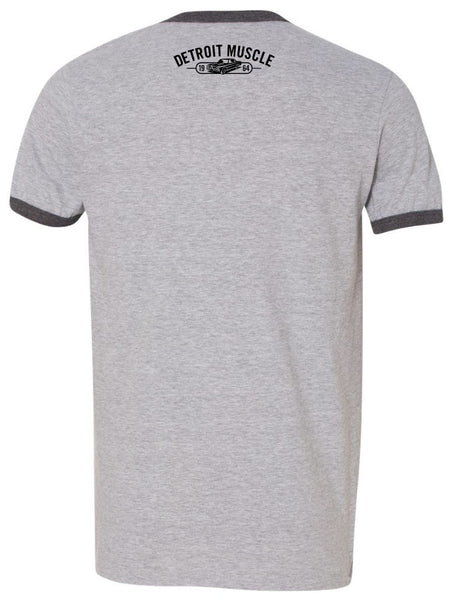 Gas Tires and Oil Ringer T-Shirt, Grey
