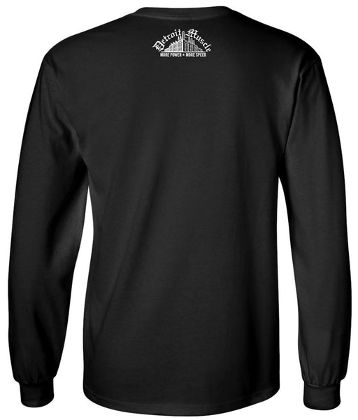 Long Sleeve T , Black , Flames Sleeves