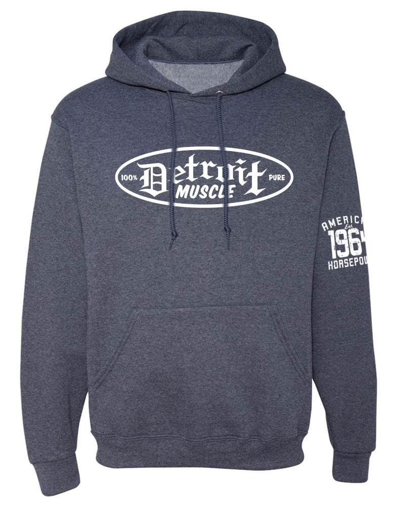 Detroit Muscle Hoodie, Heather Grey