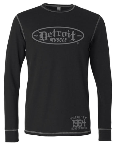 Long Sleeve Unisex Thermal Shirt - Black