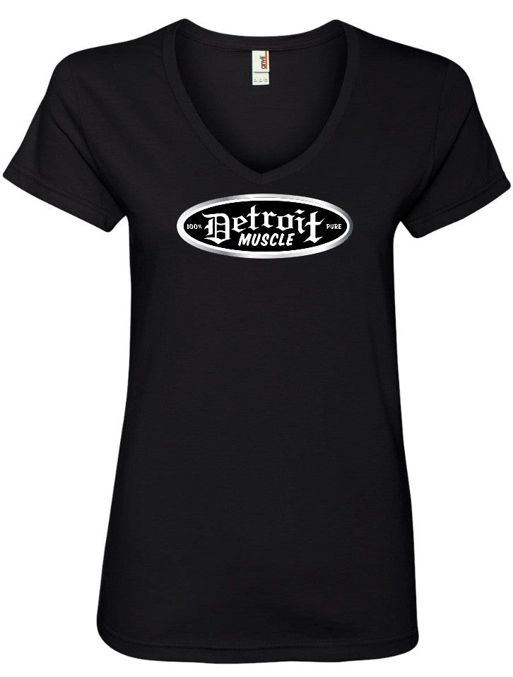 Light em Up V Neck T, Black , Womens