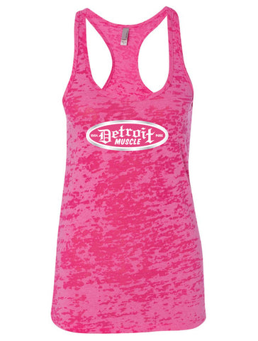Pink Rush Racerback Burnout Tank, Women's