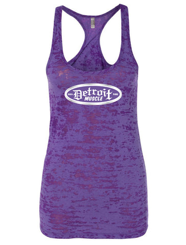 Purple Rush, Racerback Burnout Tank, Women's