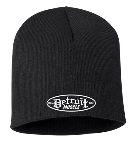 Detroit Muscle Knit Beanie Cap, Black