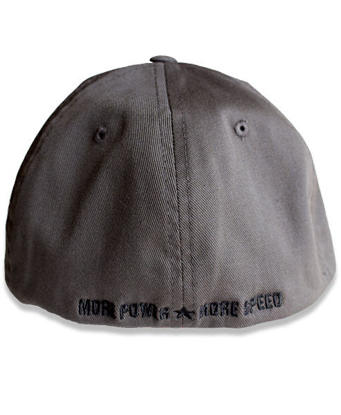 Flex Fit Hat, Charcoal Grey with Black