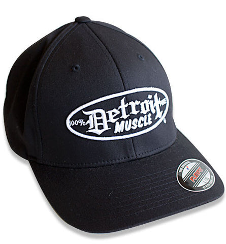 Flex Fit Hat, Black with White Puff Logo
