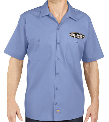 Detroit Muscle Dickies® Industrial Work Shirt - Factory Blue