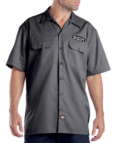 Detroit Muscle Work Shirt, Grey