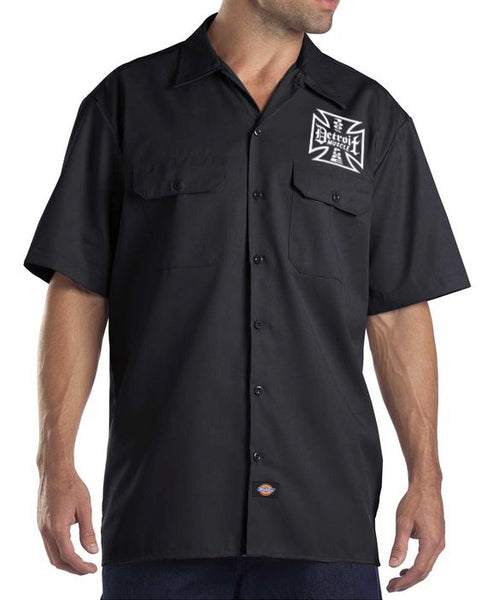 Iron Cross  Work Shirt, Black