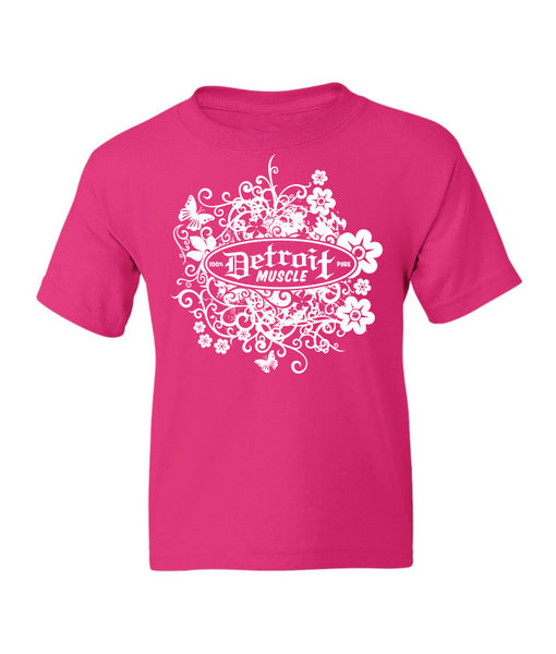 Flower Logo T, Youth , Car Girl Back,