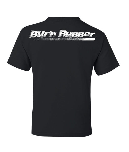 Burn Rubber T, Black, Youth
