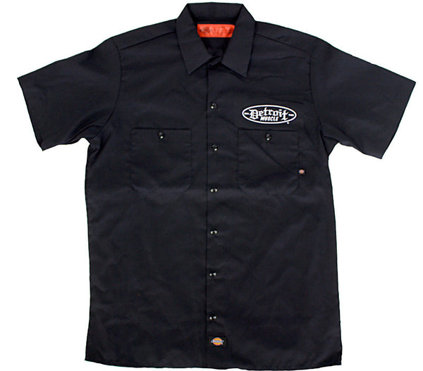 2 Skulls Workshirt , Black