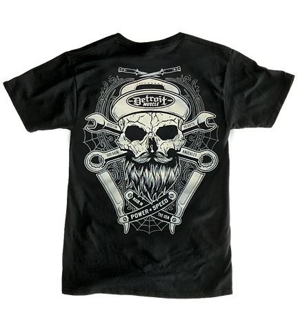 Detroit Muscle, Skull, Beard and Blades, Tee