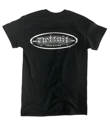 Carbon Fiber Detroit Muscle Logo Tee, Black, NEW