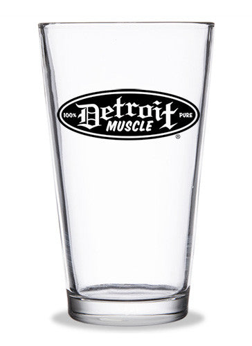 Detroit Muscle Pint Glass