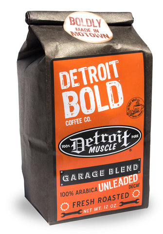 Coffee Garage Blend, Unleaded (Decaf), Light Roast