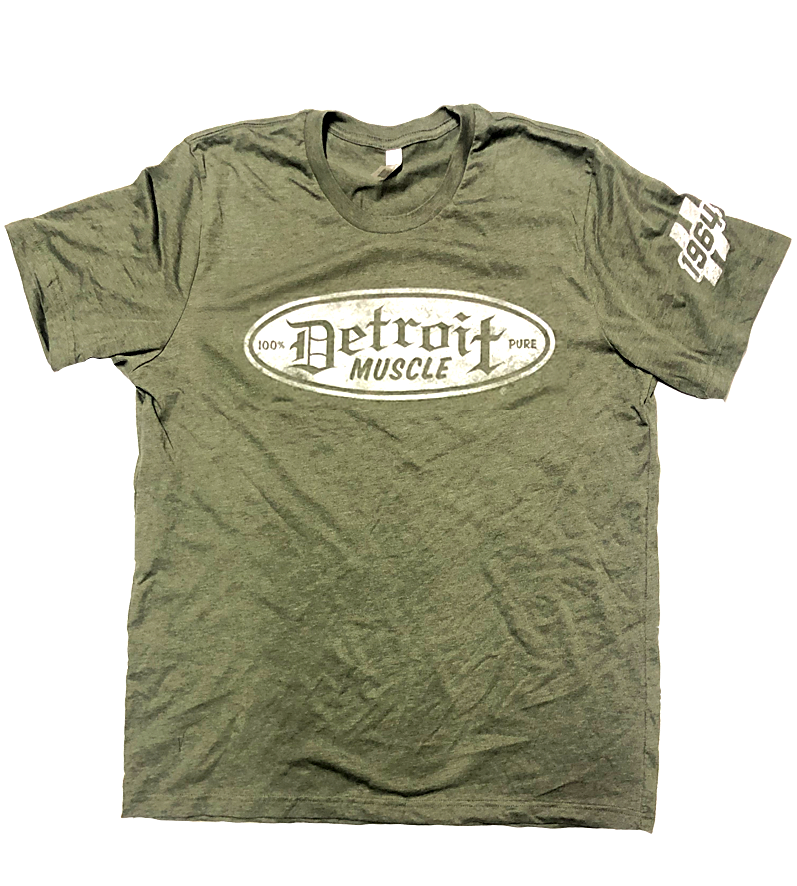 Detroit Muscle, Military Green, 1964 Tee Shirt
