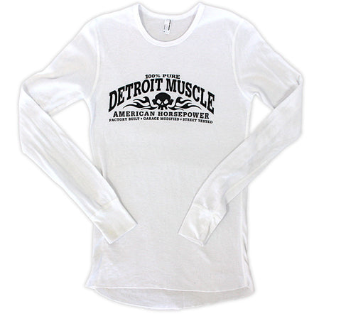 Long Sleeve Street Tested Thermal Shirt - White