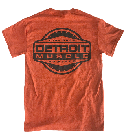 Detroit Muscle Orange Rally Stripe T-Shirt