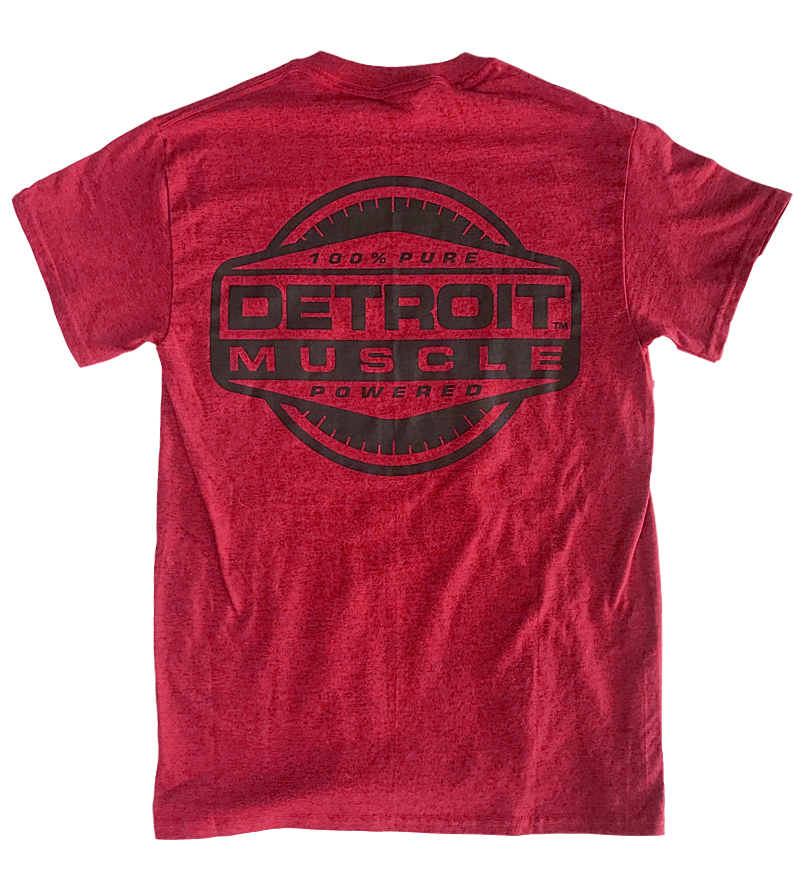 Detroit Muscle Vintage Red Rally Stripe T-Shirt