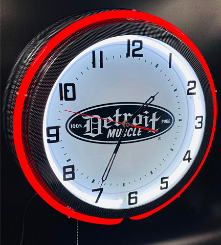 Detroit Muscle Garage Clock