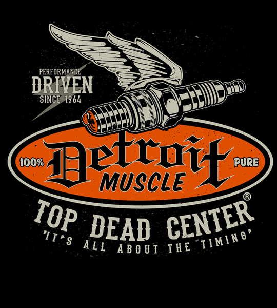 Detroit Muscle, Spark Plug, Orange