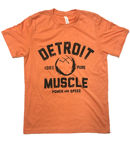 Detroit Muscle Speedball Tee, Heather Orange