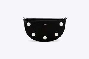 LUNA INTERCHANGEABLE TOP HANDLE BAG IN BLACK - UMBRO KAIXI