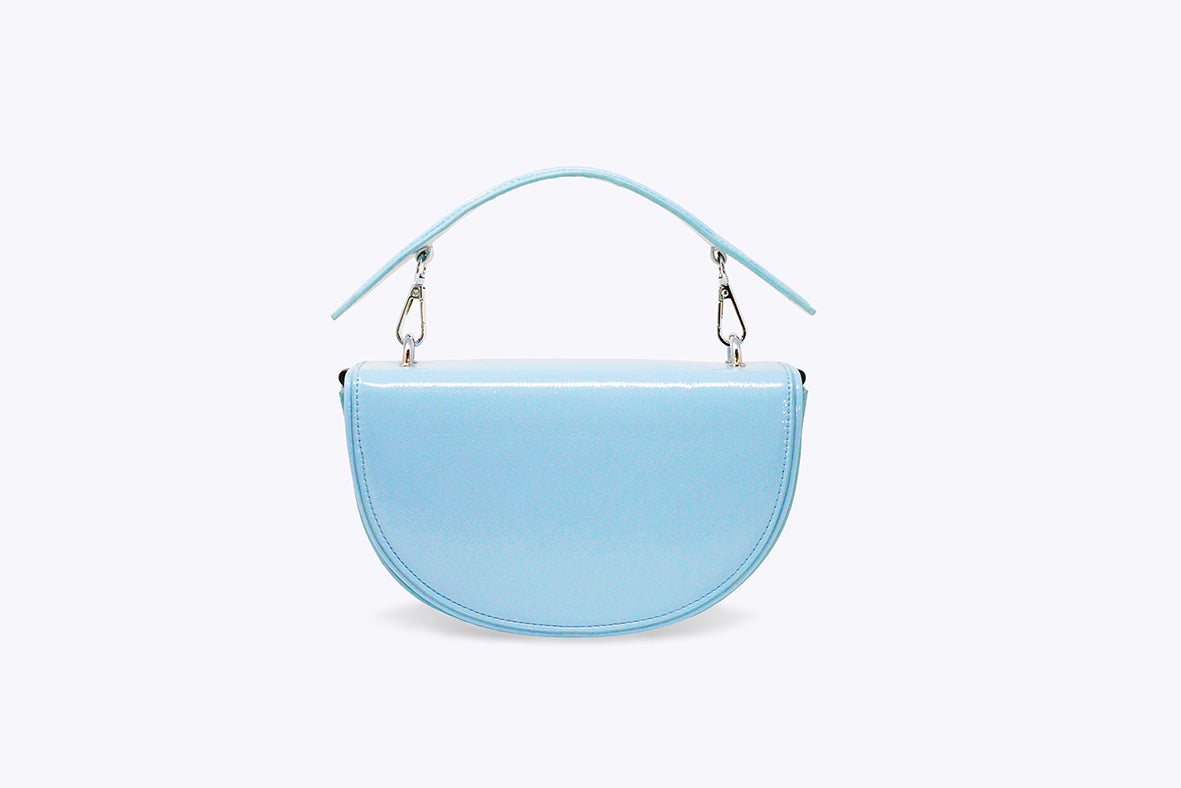 LUNA INTERCHANGEABLE TOP HANDLE BAG IN BABY BLUE - UMBRO KAIXI