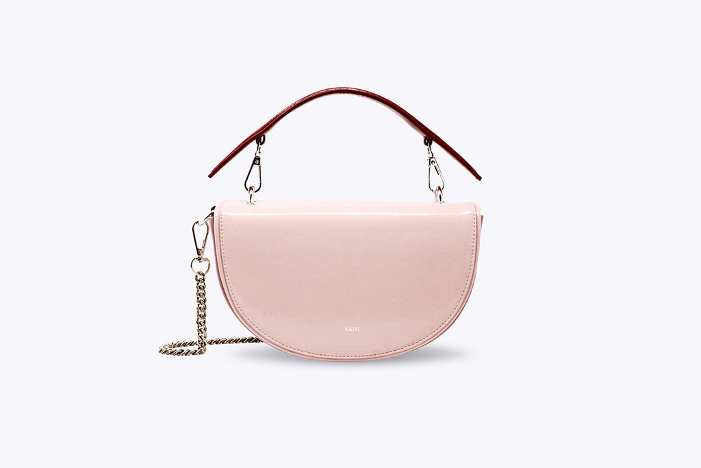 LUNA INTERCHANGEABLE TOP HANDLE BAG IN ROSY BLANC - UMBRO KAIXI