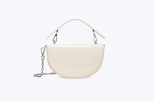 LUNA INTERCHANGEABLE TOP HANDLE BAG COVER SET IN CREAM WHITE - UMBRO KAIXI
