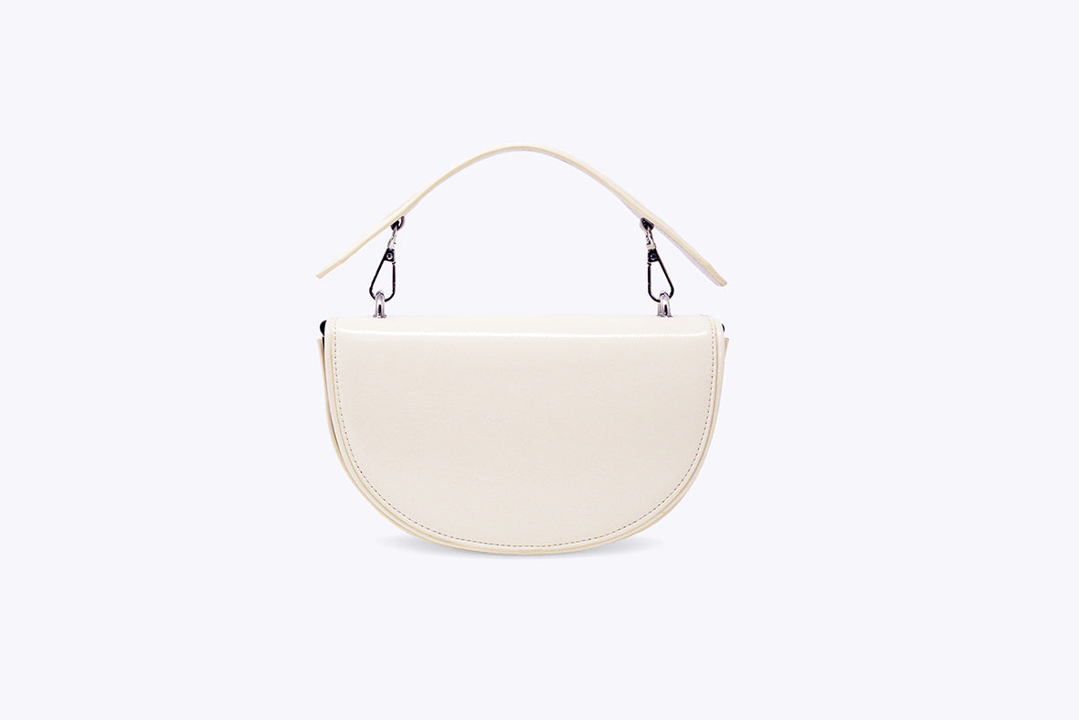 LUNA INTERCHANGEABLE TOP HANDLE BAG IN CREAM WHITE - UMBRO KAIXI