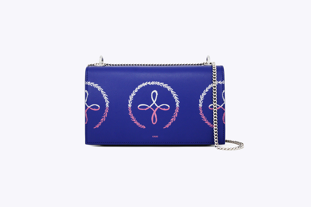 MAIA INTERCHANGEABLE SHOULDER BAG IN NEON BLUE - UMBRO KAIXI