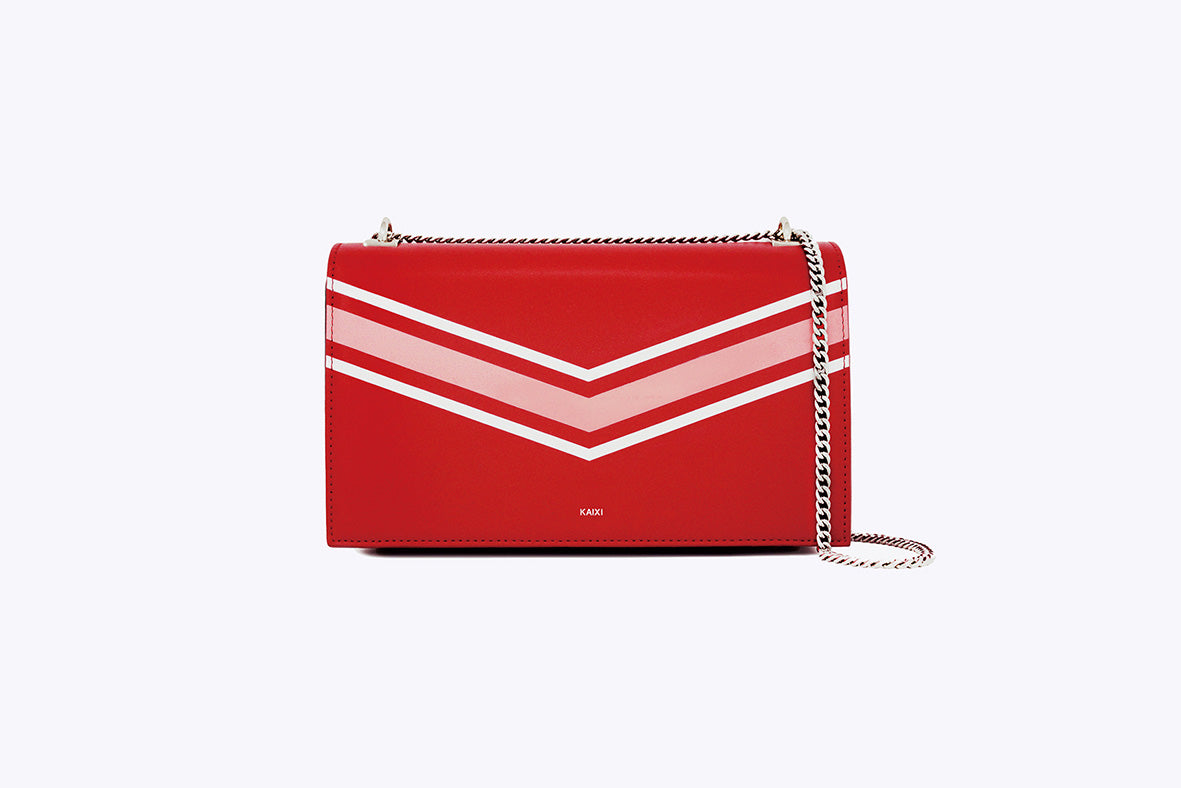 MAIA INTERCHANGEABLE SHOULDER BAG IN RED - UMBRO KAIXI