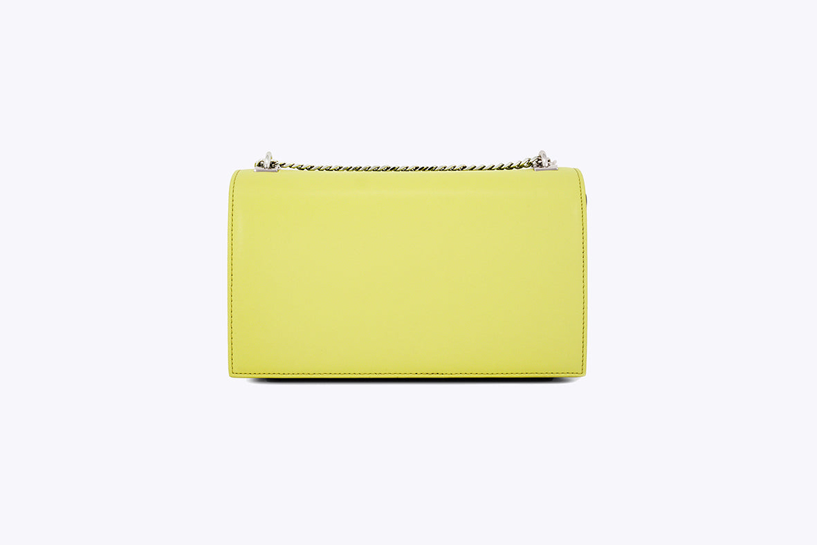 MAIA INTERCHANGEABLE SHOULDER BAG IN LIME - UMBRO KAIXI