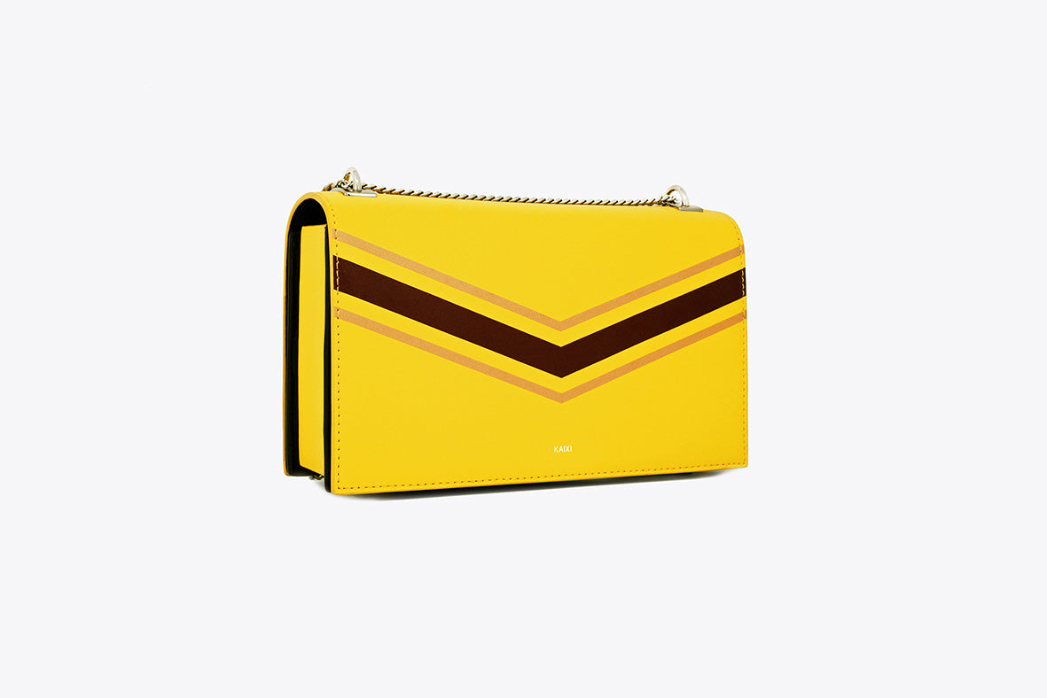 MAIA INTERCHANGEABLE SHOULDER BAG IN RICH CANARY - UMBRO KAIXI