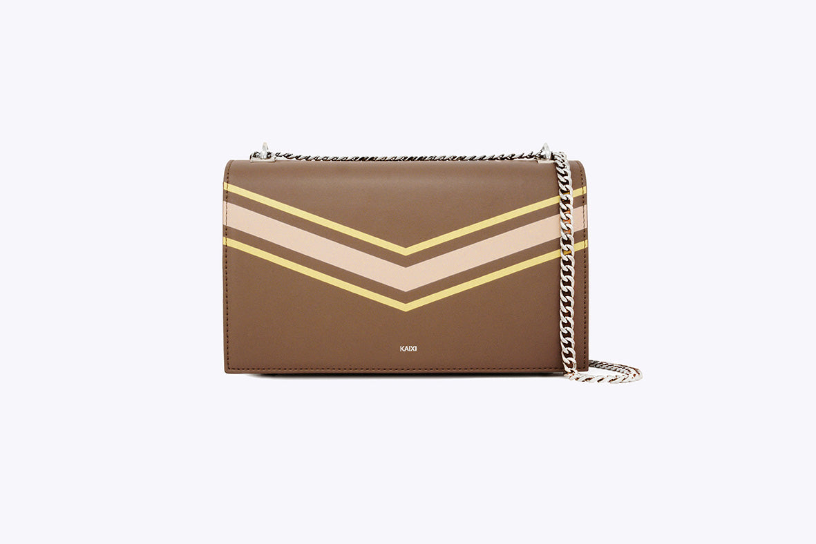 MAIA INTERCHANGEABLE SHOULDER BAG IN TOBACCO - UMBRO KAIXI