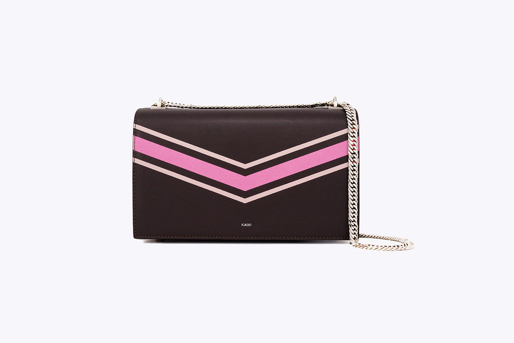 MAIA INTERCHANGEABLE SHOULDER BAG IN NEAPOLITAN - UMBRO KAIXI