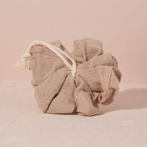Cotton & Linen Bath Pouf