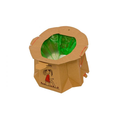 Disposable Biodegradable Travel Potty in Recycled Cardboard