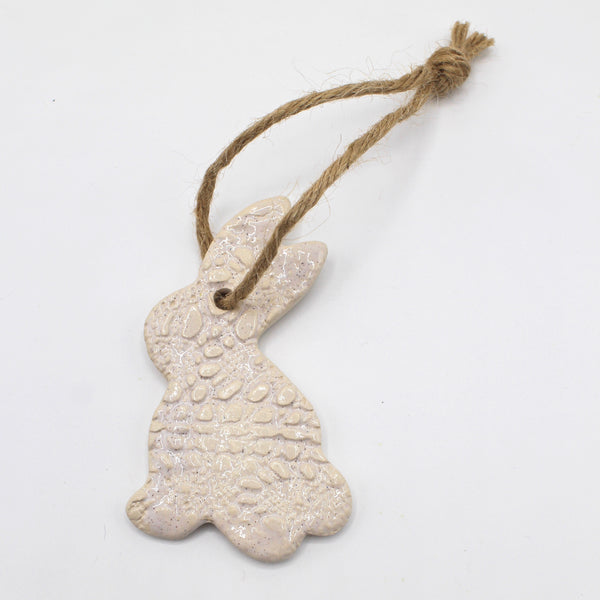 Handcrafted artisan hanging ceramic (sunshine, bunny or chick)