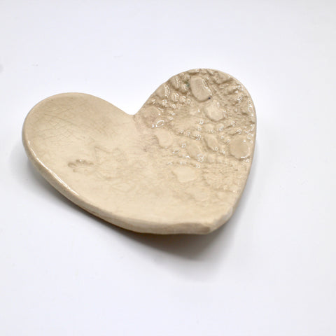 Handcrafted ceramic heart dish