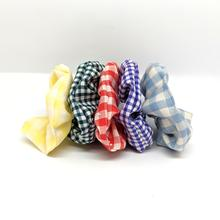 set of five scrunchies of different colours